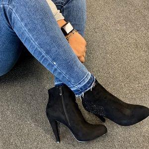 Ladies almond toe high heels ankle booties
